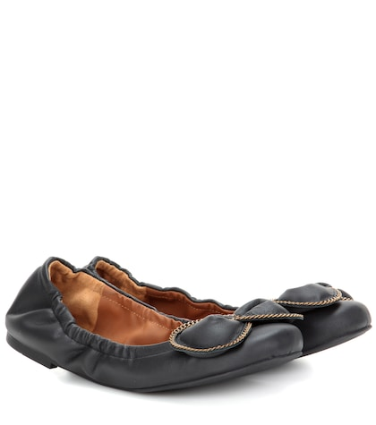 see by chloe female leather ballerinas