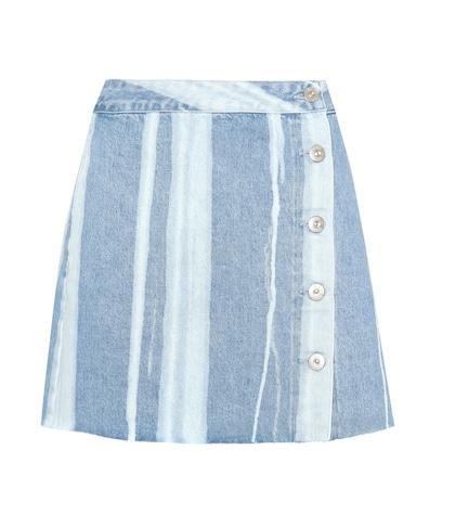 3x1 female higher ground denim skirt