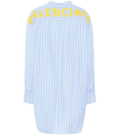 Swing striped cotton shirt