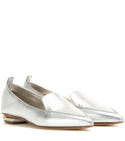 nicholas kirkwood female 45900 botalatto metallic leather loafers