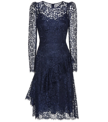 Lace dress with flounce