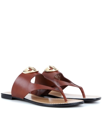 Sidney Leather Sandals by Tory Burch