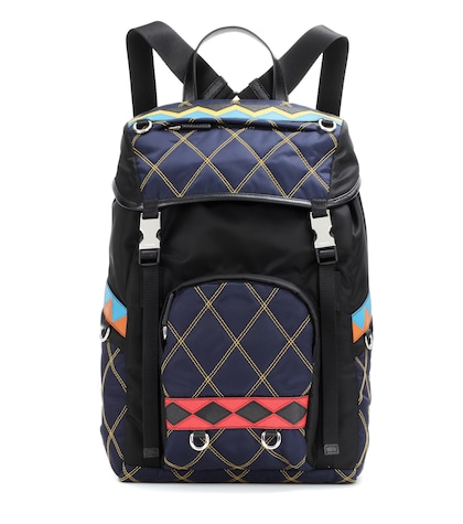 prada female quilted backpack