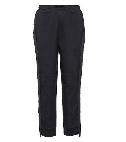 Fringe cotton-blend  trousers
