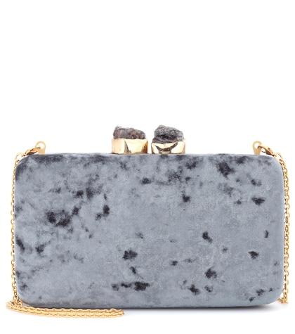 Margaux velvet box clutch