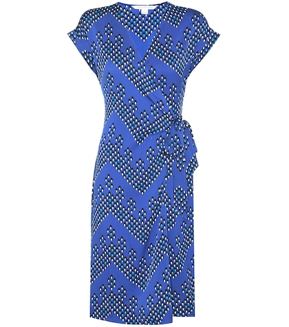 Sascha Printed Silk Wrap Dress