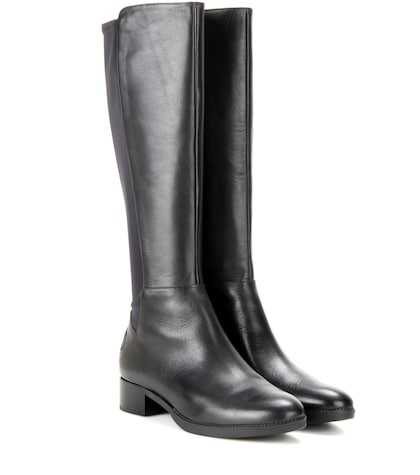Caitlin Stretch Leather Knee-high Boots
