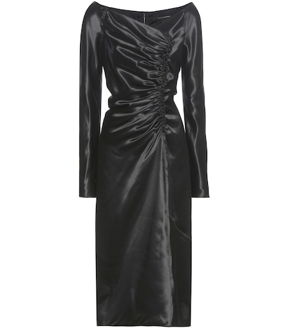 marc jacobs female ruched satin dress