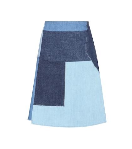 Turo Patchwork Denim Skirt
