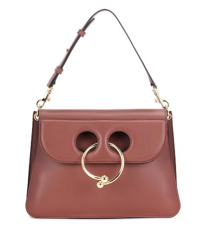 Medium Pierce Leather Shoulder Bag