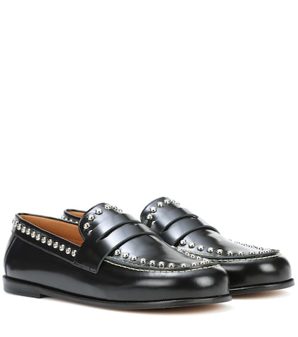 Fenzay embellished leather loafers