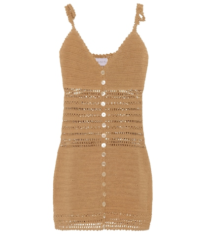 Sita crochet-knit minidress