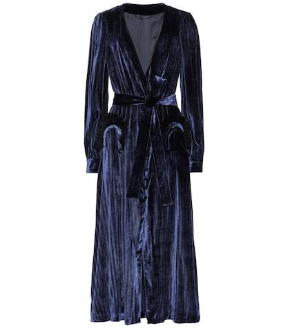 Robe Etoile Ballroom en velours de soie mélangée