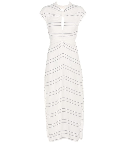 proenza schouler female striped dress