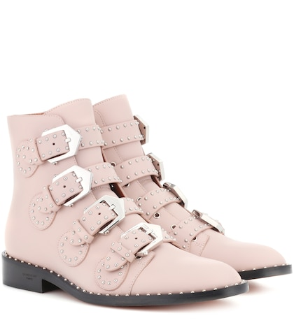 Elegant leather ankle boots