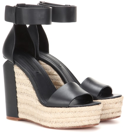 alexander wang female aurora leather wedges