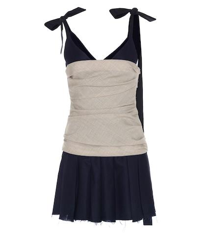 jacquemus female navy wool dress