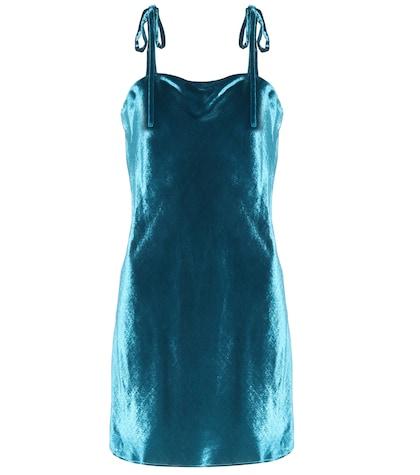 Sabrina velvet mini dress