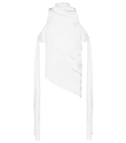 ELLERY | The Lizzies silk drape top | Goxip