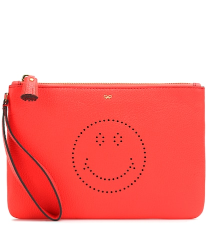 anya hindmarch female zip top leather pouch