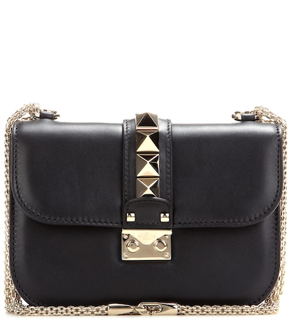 valentino female 188971 lock small leather shoulder bag