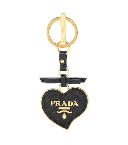 prada female leather bag charm