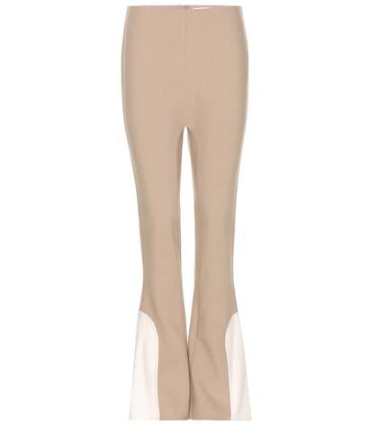 marc jacobs female flared woolblend trousers