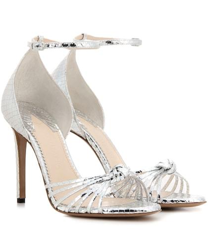Sandales en cuir métallisé Sandali Parker 105
