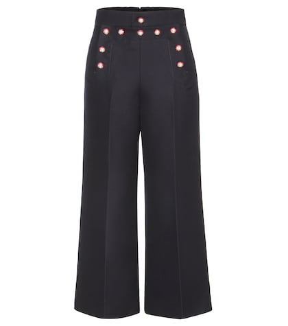 marc jacobs female embellished wool trousers