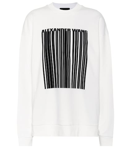 alexander wang female oversized cotton sweatshirt