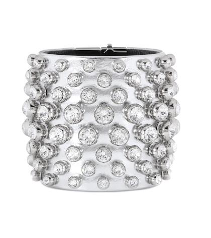 tom ford female crystalembellished metallic leather cuff