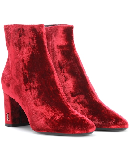 Loulou 70 velvet ankle boots