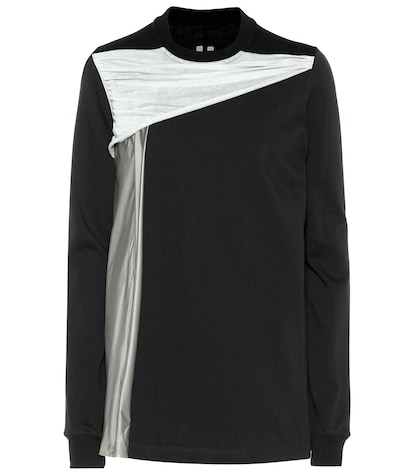 Draped cotton jersey sweatshirt