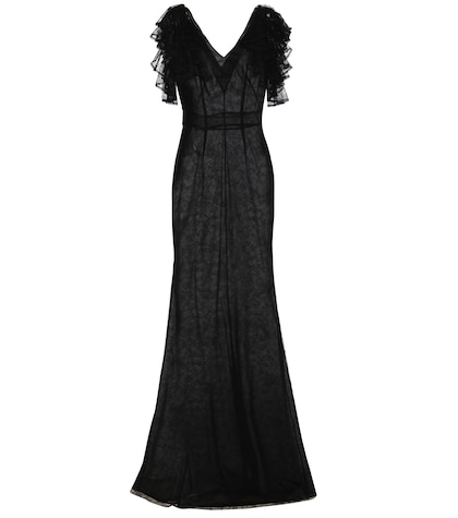 alexander mcqueen female lace gown