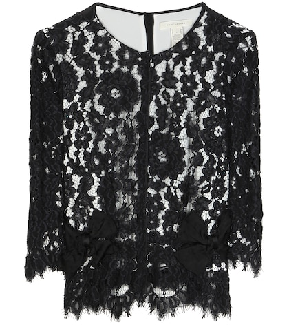 marc jacobs female lace blouse