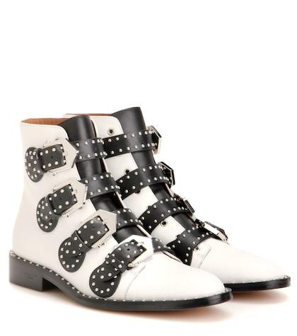 givenchy female embellished leather boots