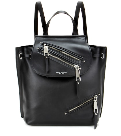 marc jacobs female zip pack leather backpack