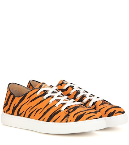 charlotte olympia female 240769 lowtop printed sneakers