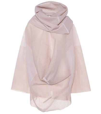 Silk-blend ribbed top