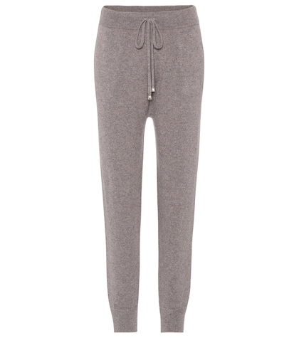 agnona female cashmere track pants