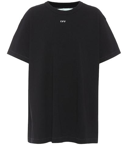 Appliquéd cotton T-shirt