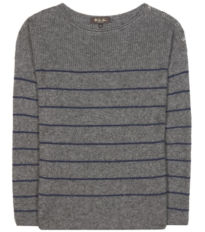 Shepherd Striped Cashmere And Silk Sweater