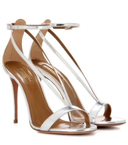 Casanova metallic leather sandals