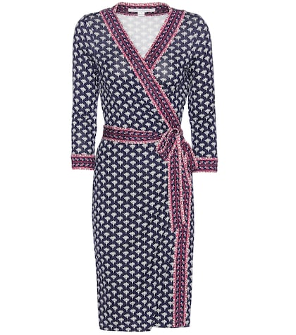 Banded Julian Printed Silk Wrap Dress