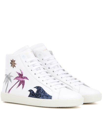 Court Classic Sl/06 Sea, Sex & Sun Embellished Leather Sneakers