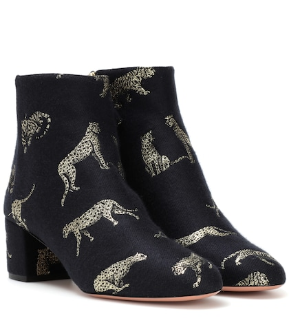 aquazzura female brooklyn jacquard ankle boots