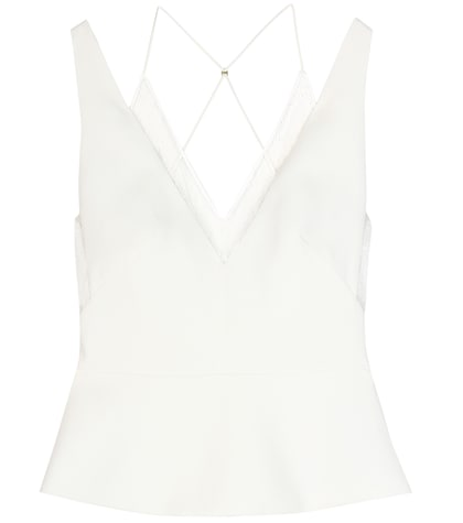 roland mouret female gresham crepe top
