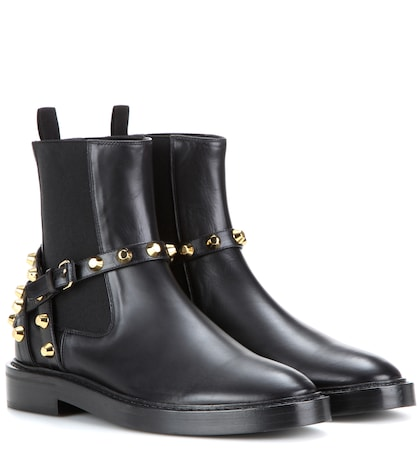 Photo of Embellished Leather Chelsea Boots Balenciaga online