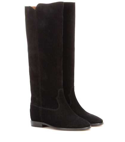 Photo of étoile Cleave Concealed Wedge Suede Boots Isabel Marant online