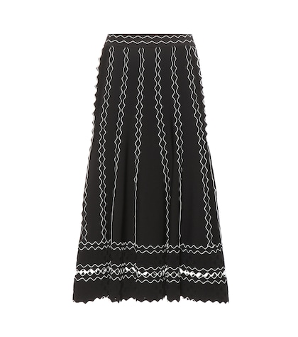 alexander mcqueen female 188971 scalloped skirt